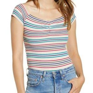 NWT Love,Fire Multi Stripe Bodysuit